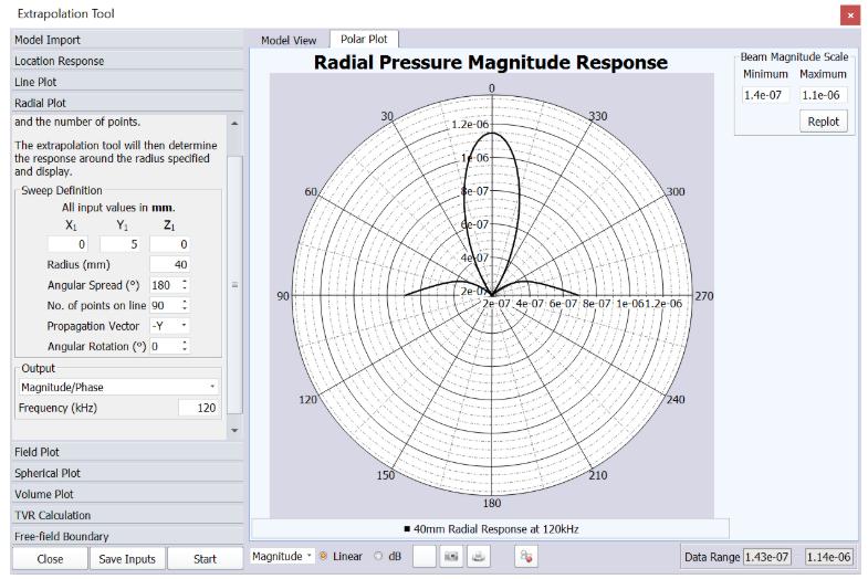 4  Radial Plot (Beam Pattern) – OnScale